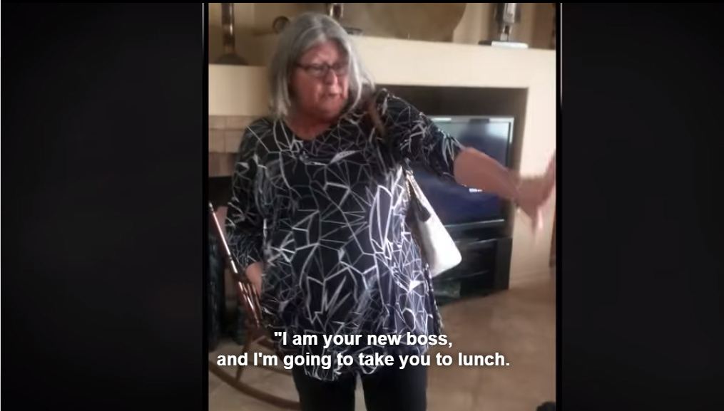 """Mayor of Shavano Park's wife, and professional Guardian Mary Werner, to her Ward, Charlie Thrash, """"I am your new boss and I'm going to take you to lunch!"""""""
