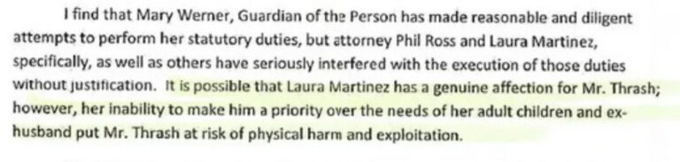 From Judge Oscar Kazen's chosen court investigator, Elaine Damian's March 8, 2019 report, whereby Elaine offers her opinion with no evidence to back up her conclusions.